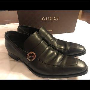 $150 Men's Gucci Black Leather Size 11.5 D